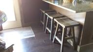 """Barnwood Bar Stools 24"""" - Saddle Seat - Customer Picture"""