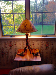 Rustic Hickory Table Lamp - Customer Picture