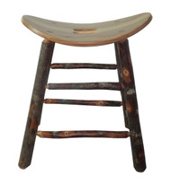 "Rustic All Hickory Bar Stools 24"" or 30""- Saddle Seat"