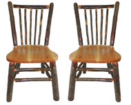 Rustic All Hickory Dining Chair with Spindle Back (Set of 2)