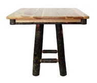 "Rustic Hickory 36"" Square or Round (30"" high) Dining Table- Square Base"