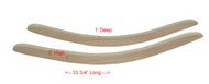 Amish Solid Oak Rocking Chair Runners Set of 2 Unfinished - Side Mount