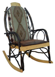Amish Bentwood Rocker Cushion Set - Apache Fabric