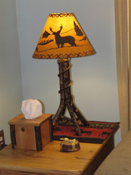 Amish Bentwood Hickory Table Lamp (shade sold separately)