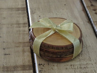Rustic Hickory Coasters Set of 4
