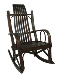 Amish Bentwood Rocker - Solid Barnwood Multiple Colors