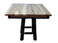 "Amish Hickory 36"" Shiplap Dinette Table"