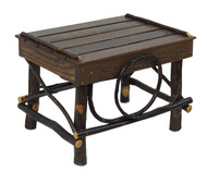 Amish Bentwood Foot Stool - Hickory & Barnwood