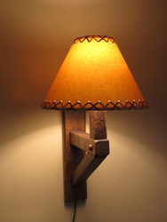 Barnwood Wall Sconce Lamp (Shade sold Separately)