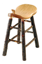 "Rustic All Hickory Western Saddle Bar Stool  24"" or 30"""