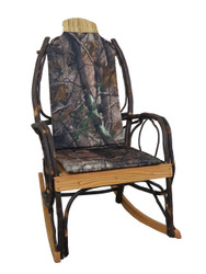 Amish Bentwood Rocker Cushion Set - Real Tree Camo Fabric