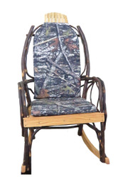 Amish Bentwood Rocker Cushion Set - True Timber Camo Fabric