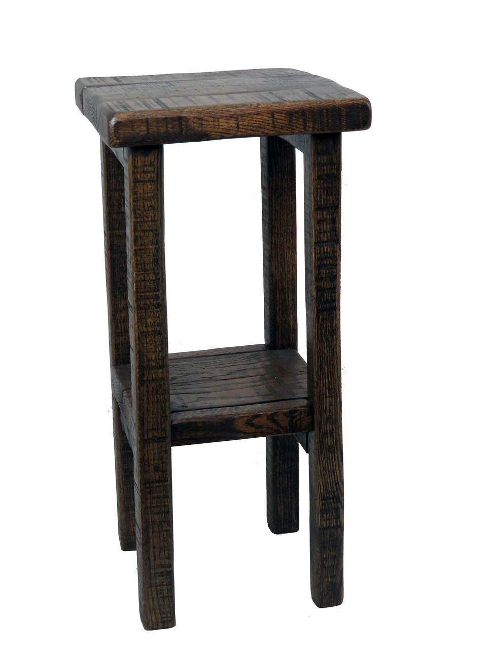 Picture of: Amish Barnwood Tall Side Table Plant Stand