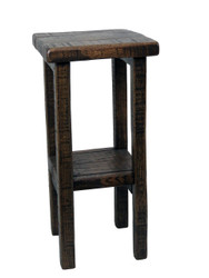 Amish Barnwood Tall Side Table Plant Stand