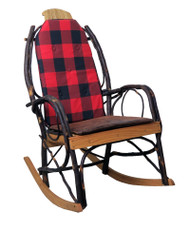 Amish Bentwood Rocker Cushion Set - Buffalo Plaid Fabric