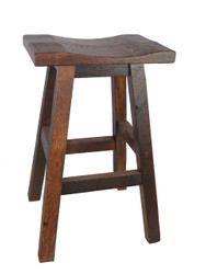 Barnwood Bar Stool Saddle Seat in 30""