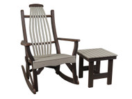 Amish Outdoor Bentwood Side Table Only- Poly Wood