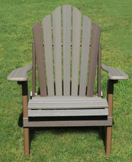 Amish Outdoor Rustic E-Z In E-Z Out Adirondack Chair Brazilian Walnut & Coastal  Grey