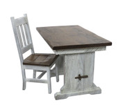 Amish Farmhouse Trestle Desk White Distressed for your Home Office