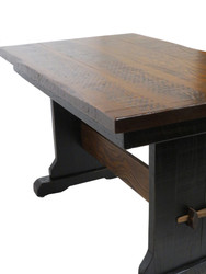 Amish Farmhouse Trestle Desk Black Rub Through Finish for your Home Office