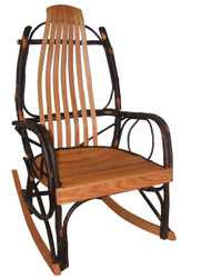 Amish Bentwood Rocker - Hickory & Oak  FREE SHIPPING