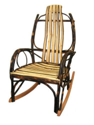 Amish All Hickory Bentwood Rocking Chair