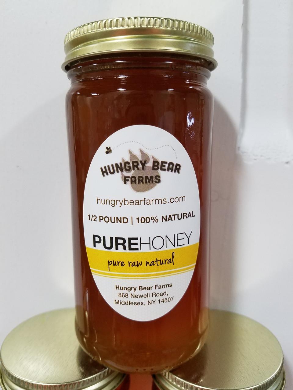 8 oz  Pure Raw Honey