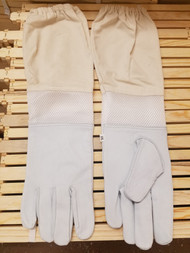 Goatskin Gloves with Organic Cotton & Mesh