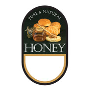 "Small Honey/ Biscuit Label, Oval, 100 pack, 1-3/4"" x 3"" PRINTABLE PACK, Brushy Mt."