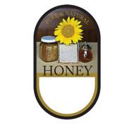 "Small Honey/ Sunflower Label, Oval, 100 pack, 1-3/4"" x 3"" PRINTABLE PACK, Brushy Mt."