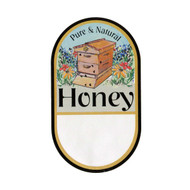 """Small Garden Hive Label, Oval, 100 Pack, 1-3/4"""" x 3"""" PRINTABLE PACK, Brushy Mt."""