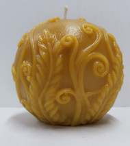 Pure Beeswax Rustic Fern Ball Candle