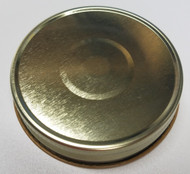 Gold Button Canning Jar Lids, One Piece Plastisol Lined, size 70G, Pack of 12 Lids