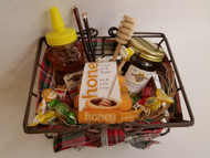 Gift Basket with Seasonal Honey Products, Small