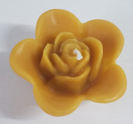Pure Beeswax Floating Rose Candles, Set of 3, 100% beeswax