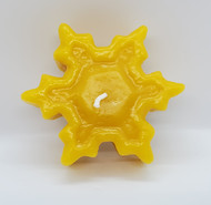 Pure Beeswax Snowflake Candles, 100% beeswax, Winter Wonderland Candle, Floating Candle