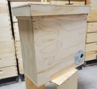 Wooden Swarm Trap w/ Metal Entrance Disk & Hanger, Holds 5 Frames (Frames not included)