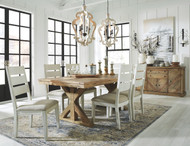 Grindleburg Light Brown 7 Pc. Rectangular Table & 6 Side Chairs