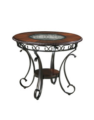 Glambrey Brown Round Counter Table