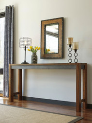 Torjin Brown/Gray Long Counter Table
