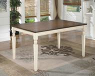 Whitesburg Brown/Cottage White Rectangular Dining Room Table