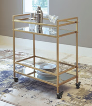 Kailman Gold Finish Bar Cart