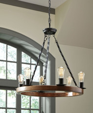 Plato Brown/Black Wood Pendant Light (1/CN)