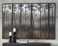 Philyra Black/Orange/Silver Wall Art