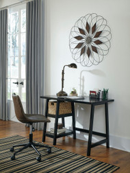 Mirimyn Black Small Desk & Swivel Desk Chair