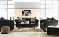 Darcy Black Sofa, Loveseat, Chair & Ottoman