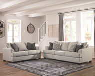 Velletri Pewter Sofa/Couch & Loveseat