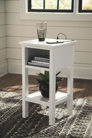 Marnville White Accent Table