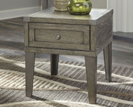 Chazney Rustic Brown Rectangular End Table