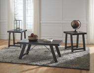 Noorbrook Black/Pewter Occasional Table Set (3/CN)
